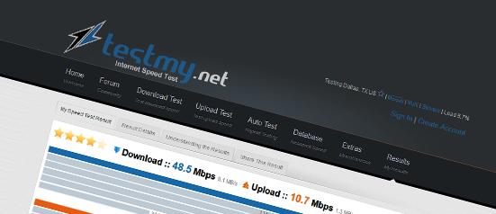 TestMy.net - internet speed test